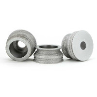 Brazing diamond grinding wheel for edge shaping