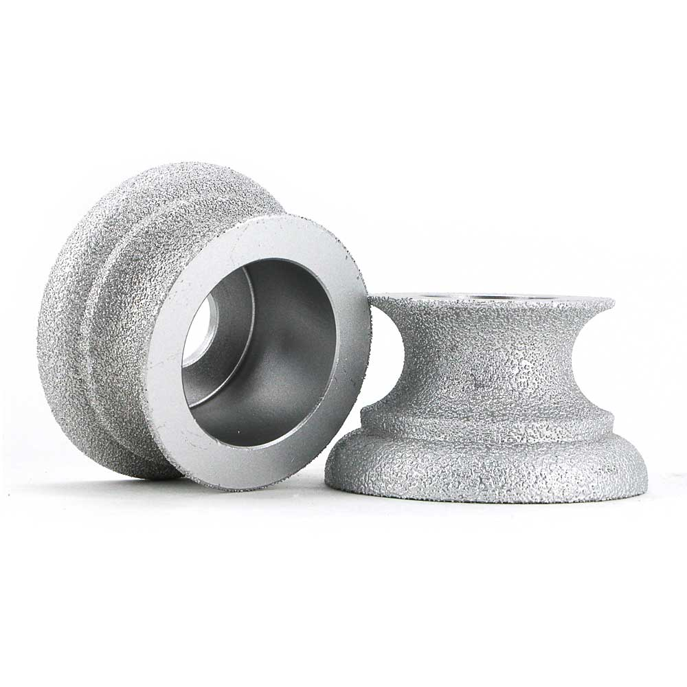 Brazing diamond grinding wheel of Dragon curve edge