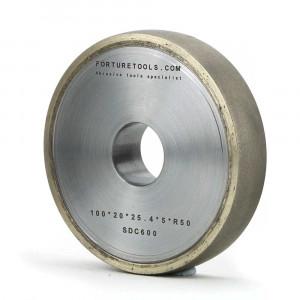 Metal bond round edge diamond grinding wheel