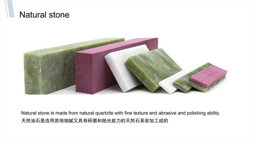 Natural oil stone