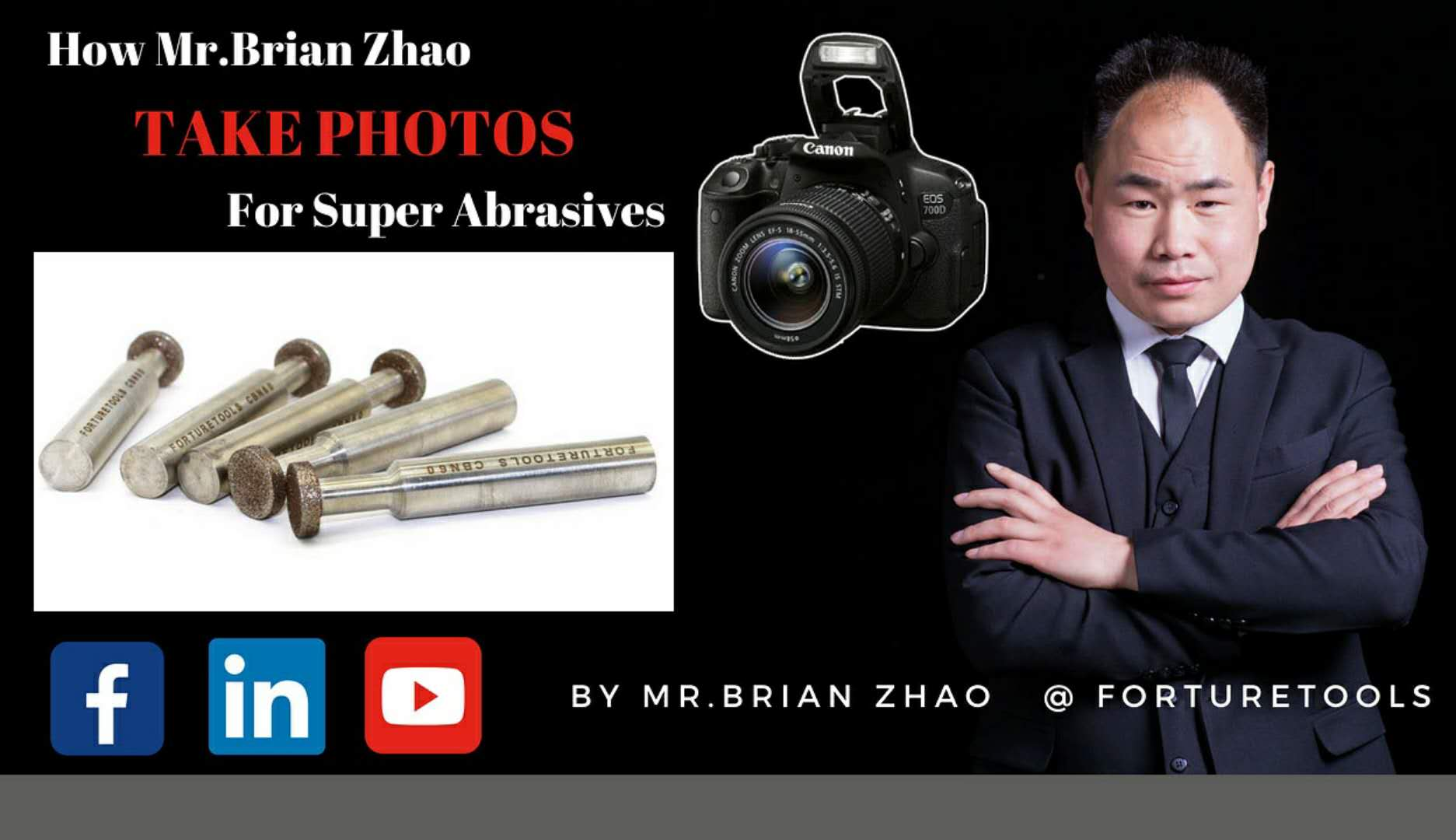 How Mr.Brian Zhao take photos for super abrasives CBN mounted point