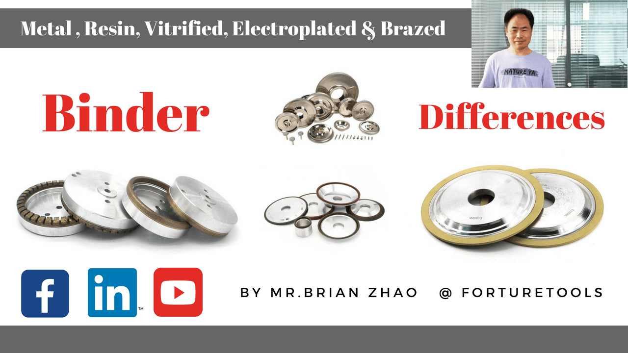 The basic differences among metal,resin,vitrified,electroplated and brazed grinding wheels