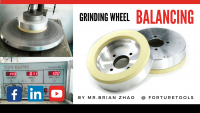 Vitrified bond diamond cup grinding wheel dynamic balancing