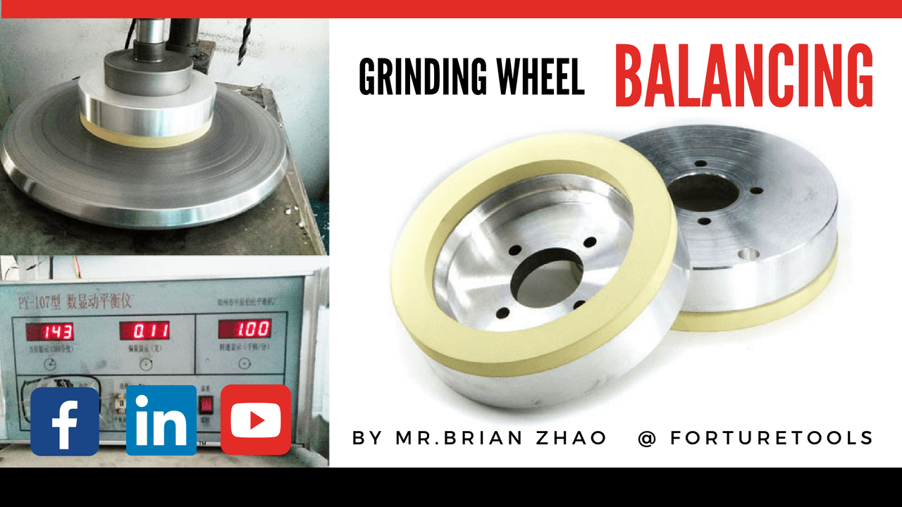Vitrified bond diamond cup grinding wheel dynamic balancing