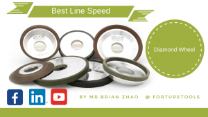 What's the best line speed of a diamond grinding wheel