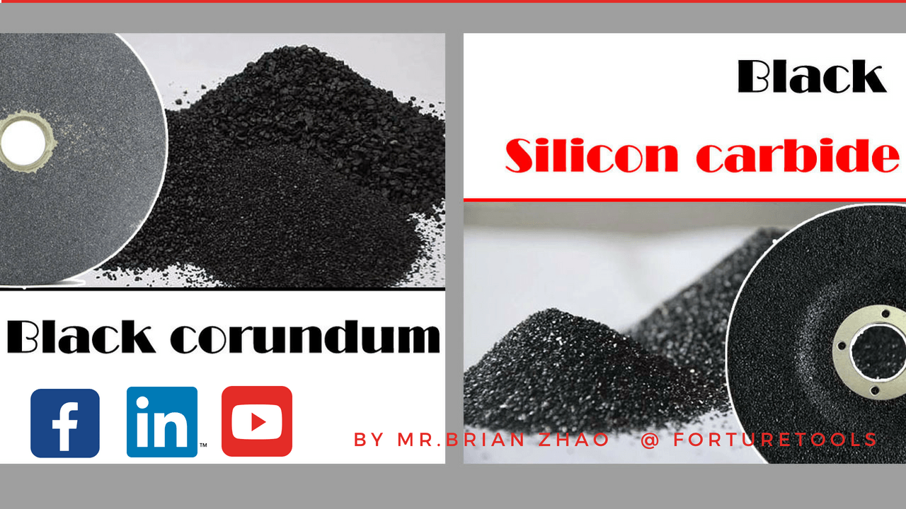 The differences between black corundum and black silicon carbide