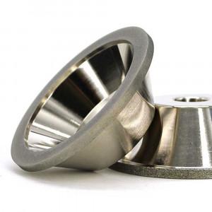 bowl shape electroplated diamond grinding wheel