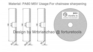 Chainsaw grinding wheel drawing