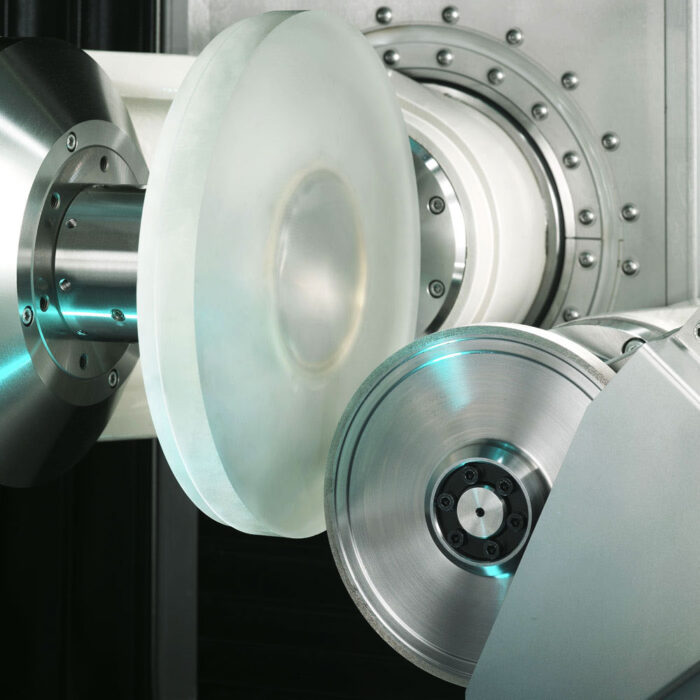 Diamond grinding wheel for optical glass processing