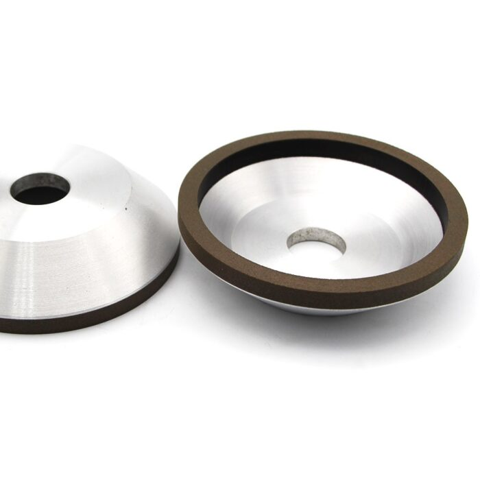 Flaring cup diamond grinding wheels for carbide cutting tools