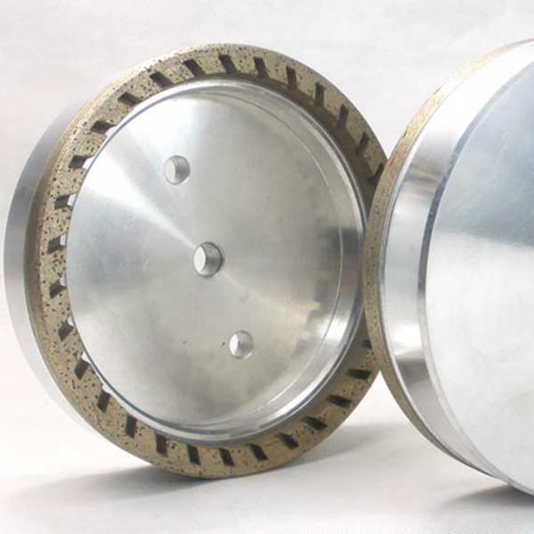 Half segmented diamond cup wheel for glass
