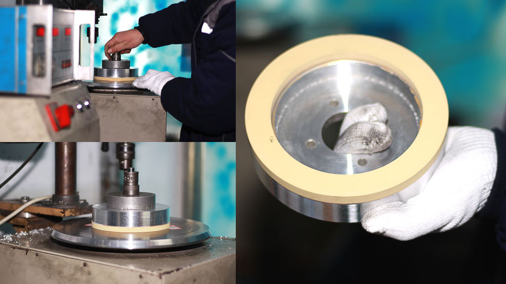 Vitrified bond diamond grinding wheel dynamic balancing