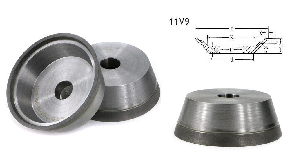 11V9 flaring cup hybrid Grinding Wheel