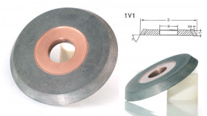 1V1 angle gashing hybrid grinding wheel for carbide