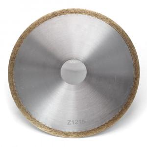 Metal bond diamond disc for lapidary cutting
