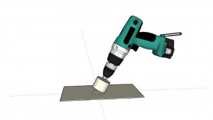 glass hand drill