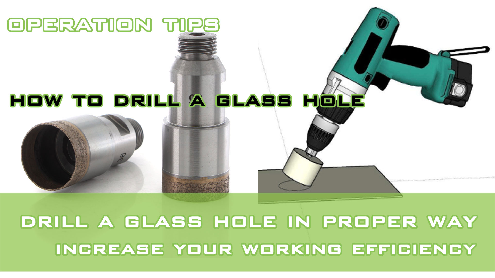 How to drill a glass hole in proper way