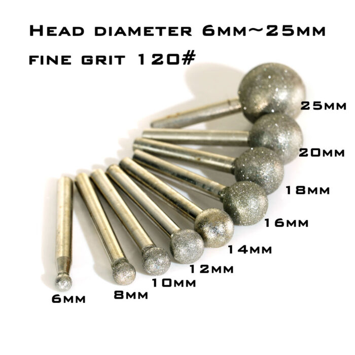 Electroplated diamond mounted points