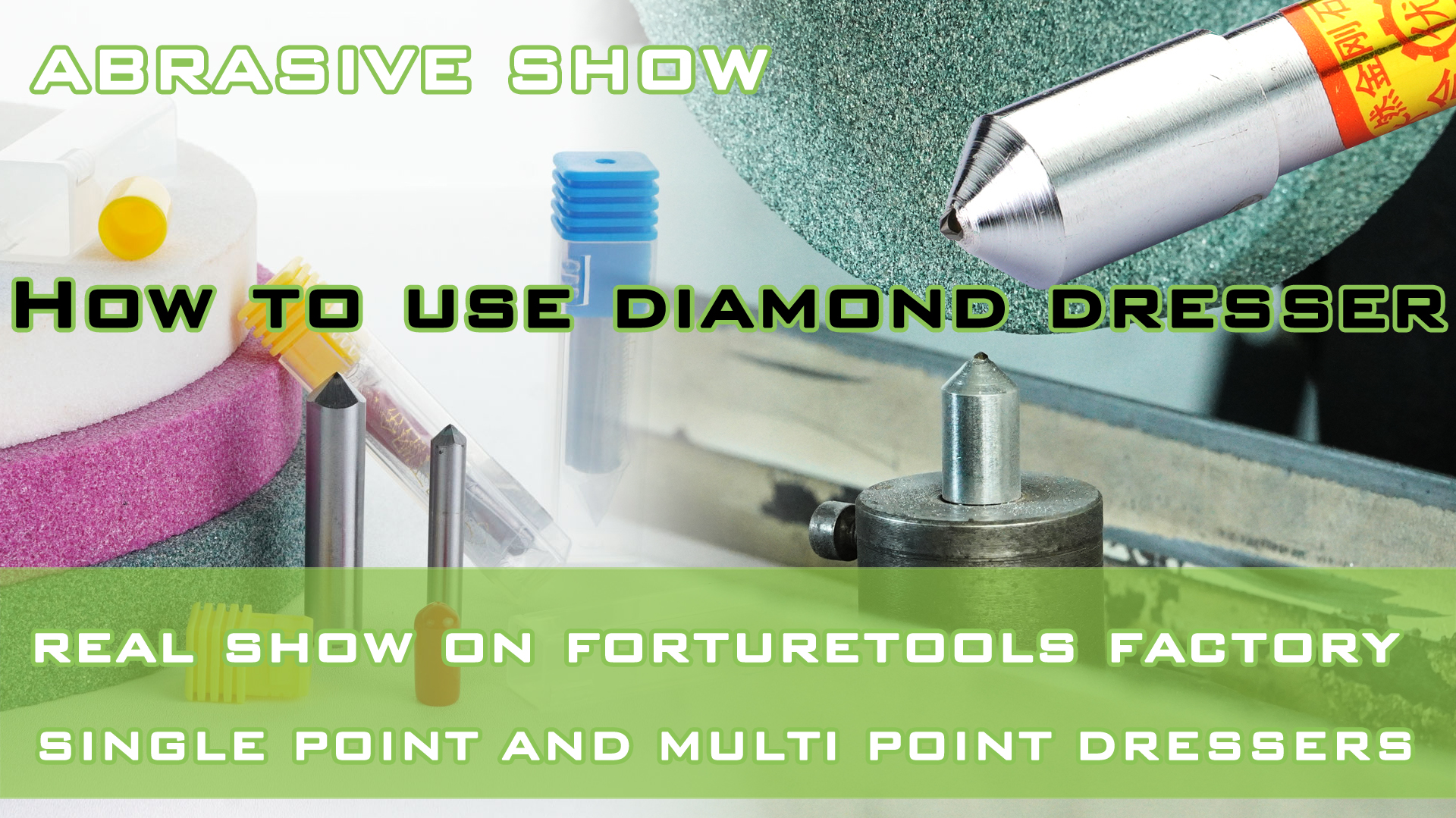 How to use diamond dresser to dress and true grinding wheel-Mrbrianzhao