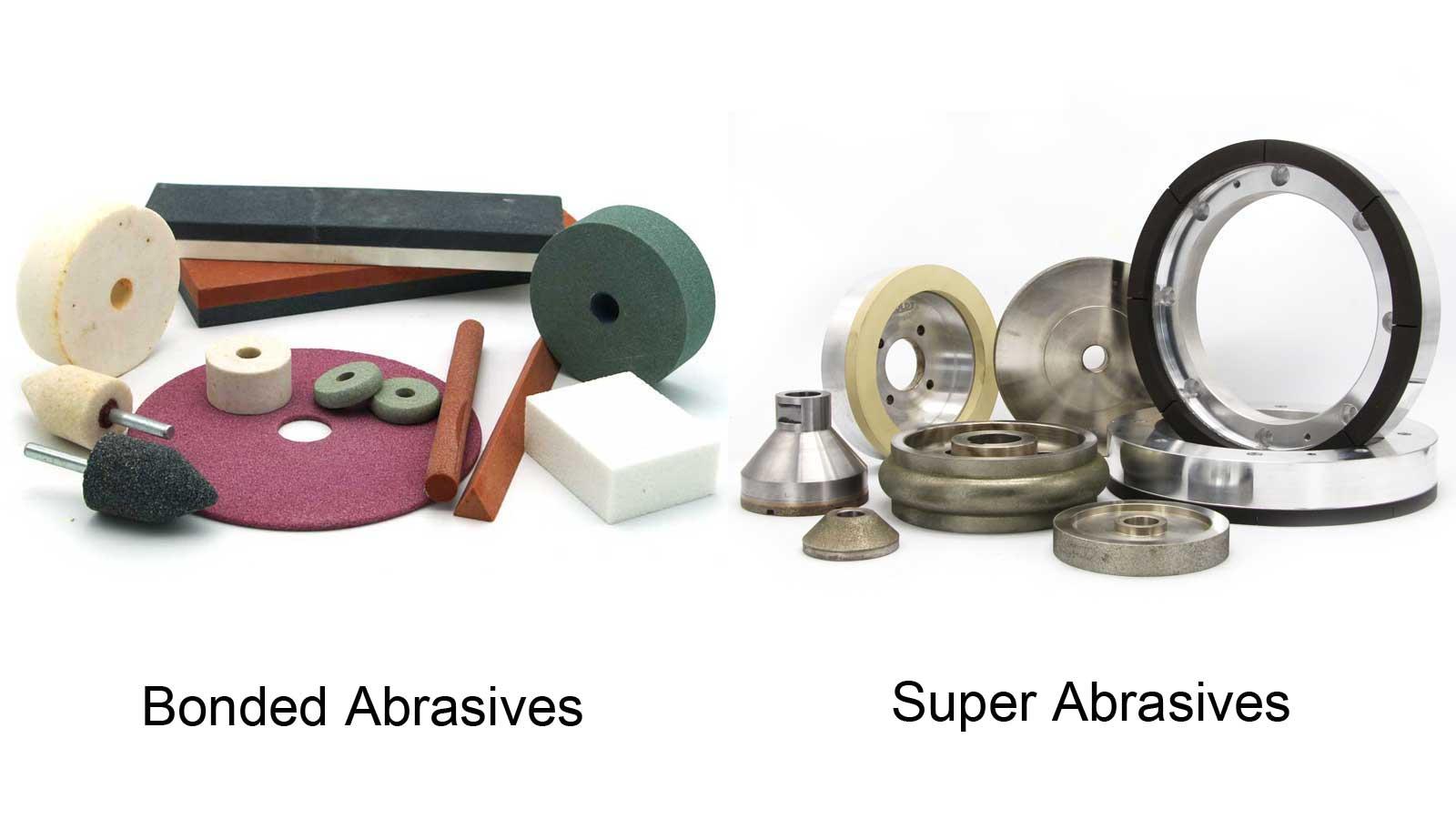 super abrasives and conventional bonded abrasives